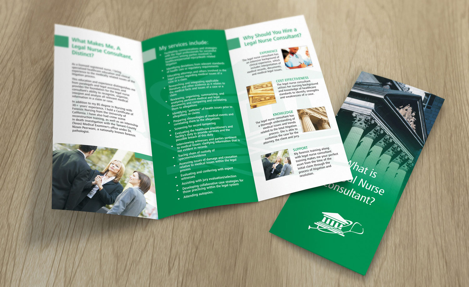 trifolded brochure p r incorporated