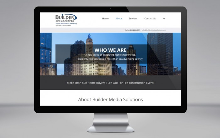 """Builder Media Solutions"" website for Tribune Company"