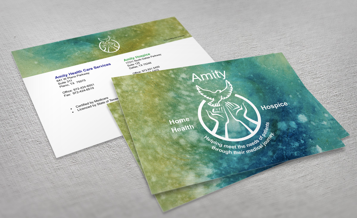Amity thank-you card