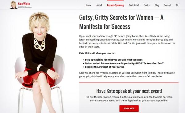 Kate White website by PRinc