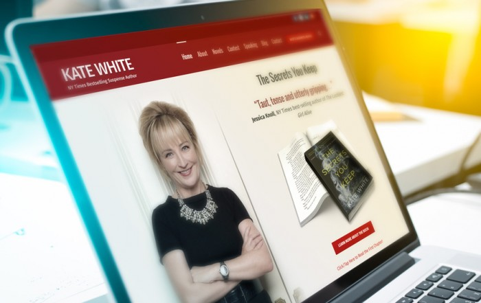 Novels website design for author Kate White by P.R. Inc.