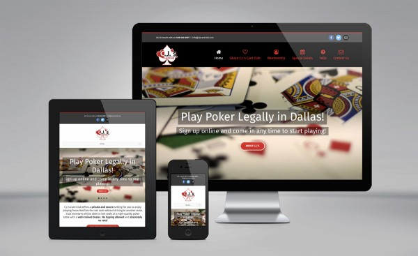 C.J.'s Card Club - website