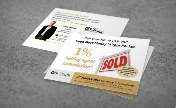 DFW Elite Realtor postcard