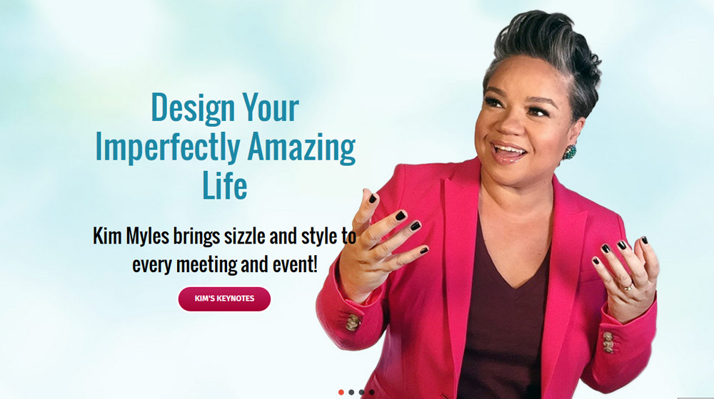 P.R. Inc. designed the website for Kim Myles