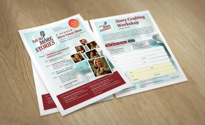Fliers for Linda Thomas - Tell Me More Stories