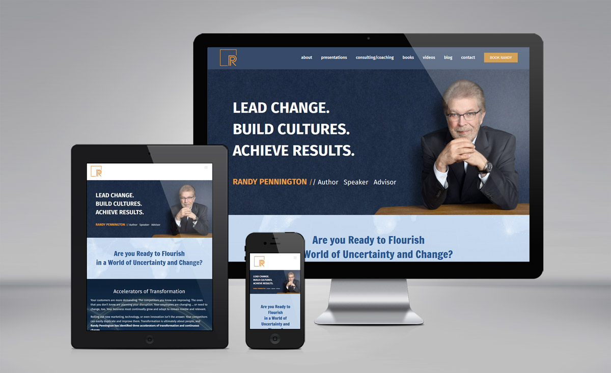Randy Pennington website design update