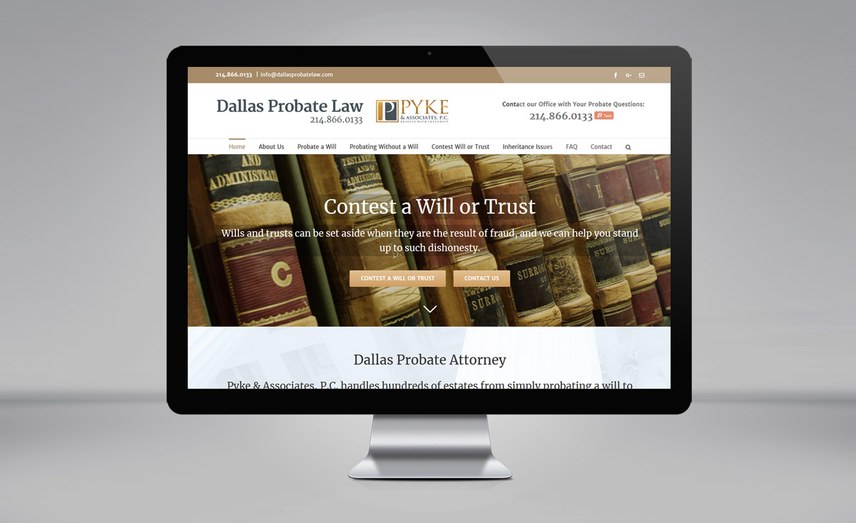 Dallas Probate Law - David Pyke