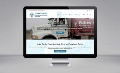 A&M Septic website