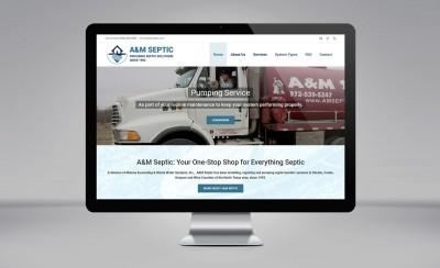 A&M Septic website