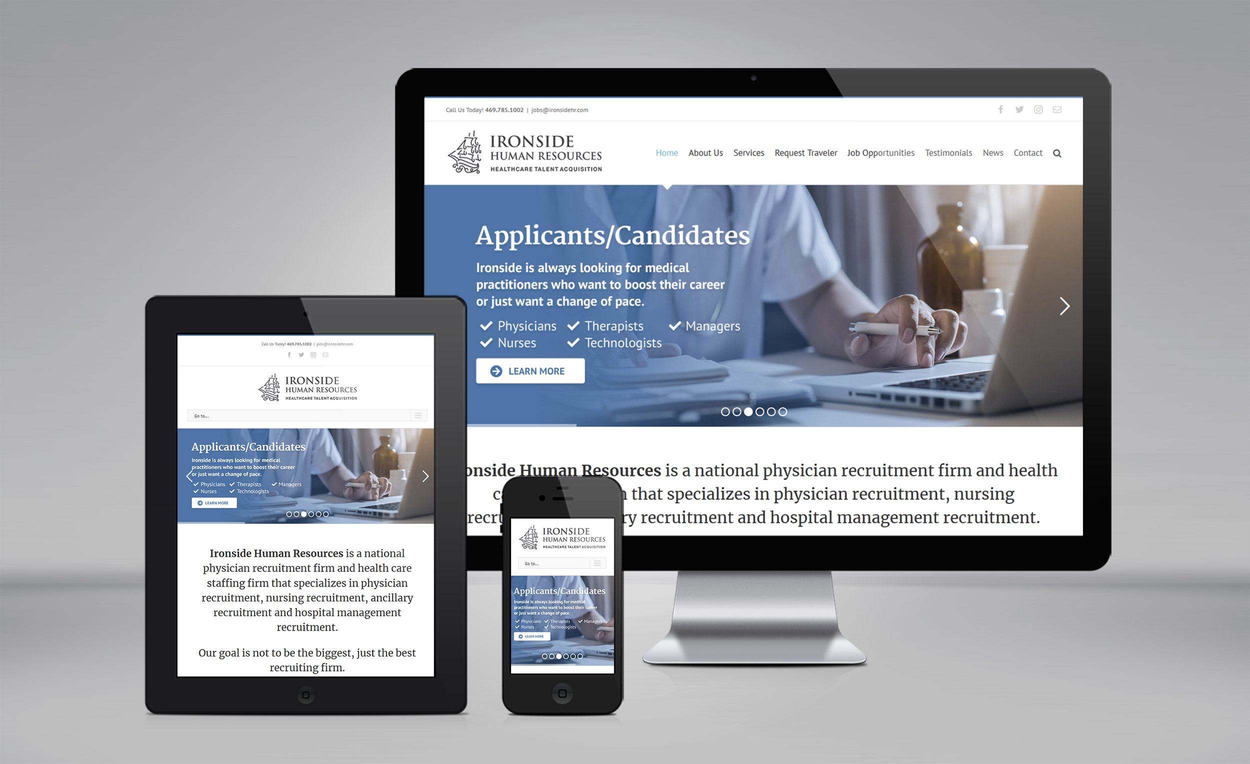 Ironside Human Resources website