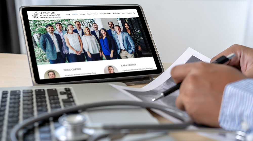 P.R. Inc. designed Ironside Human Resources' website