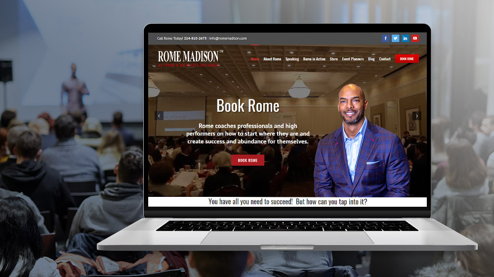 P.R. Inc redesigned Rome Madison's website