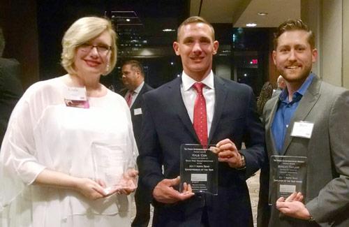 2017 North Texas award recipients: Linda Thomas (left) – Volunteer of the Year; Kyle Cox (ctr)- Entrepreneur of the Year; and Brent Taylor (rt) – Employer of the Year