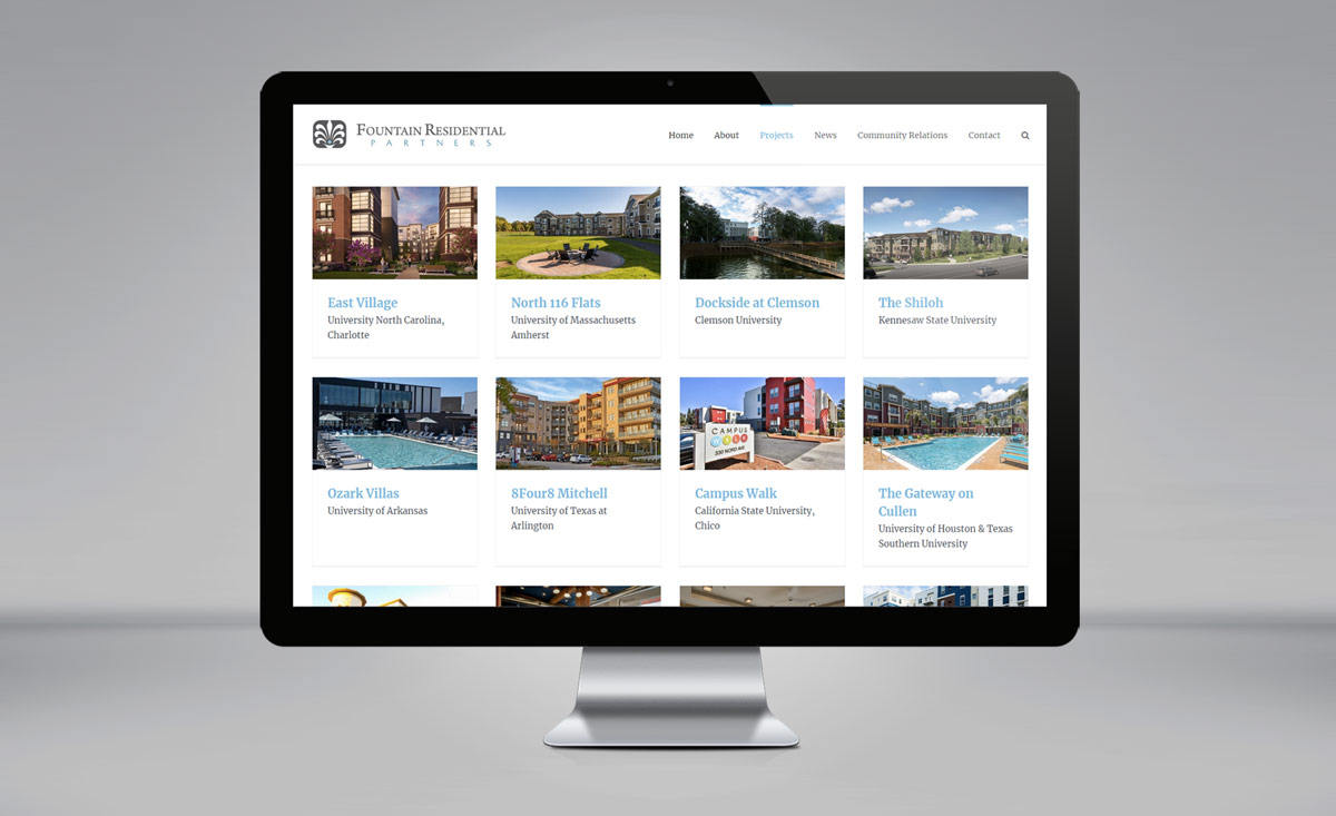Fountain Residential Partners website