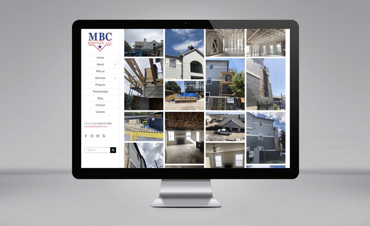 MBC Services website design