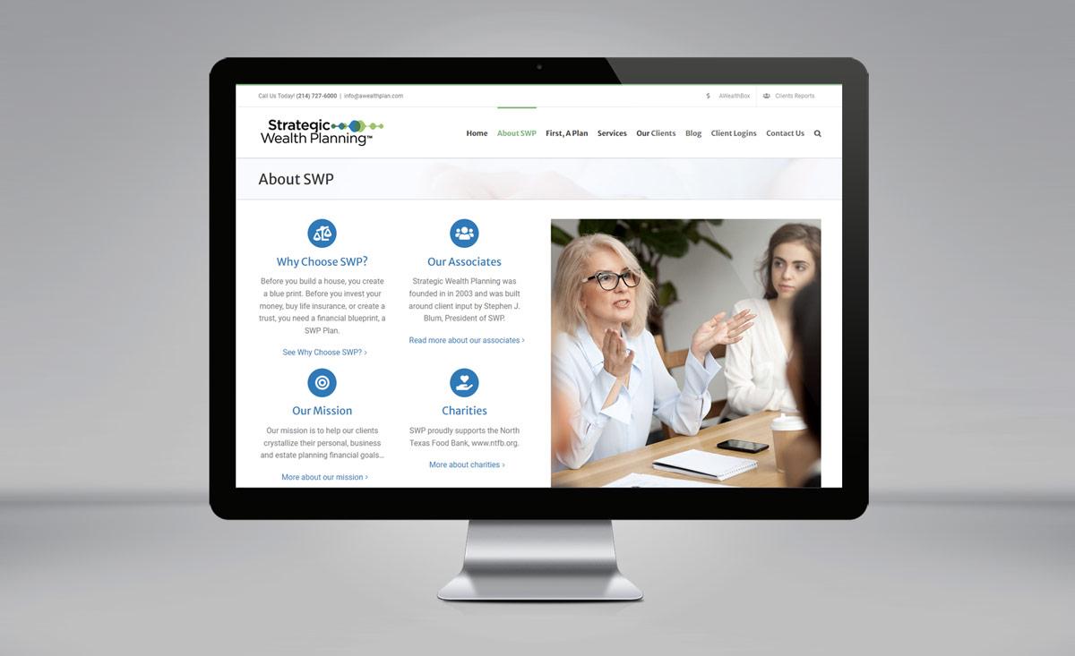 Strategic Wealth Planning website redesign